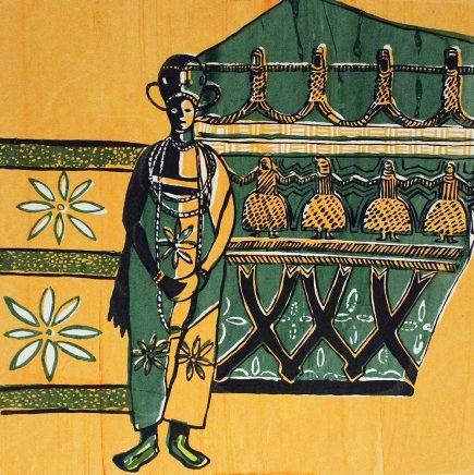 Bruce Onobrakpeya, Okuku Hair Dress: A Revisit of the Sunshine Period (1960 - 70)