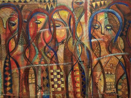 Nike Davies-Okundaye & Tola Wewe, Untitled, 2014