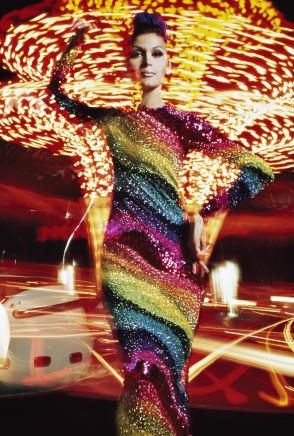 William Klein, Isabella + Merry-go-round, Paris (Vogue), 1965