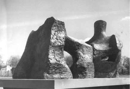 Henry Moore, 2 Piece Reclining Figure No. 2, 1960
