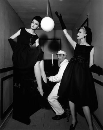 William Klein, Dorothy + Little Bara playing Piano, Paris (Vogue), 1960