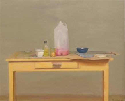Rodrigo Moynihan, Large Containers, Bottles and Dish, 1981