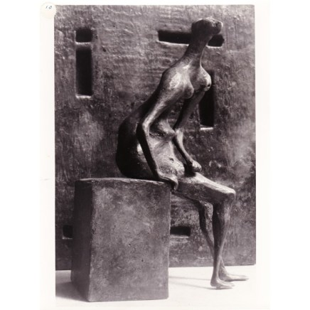 Henry Moore, Girl Seated against Square Wall, 1957-58