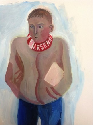 Ed Gray, Young Gooner (Study for Arsenal Adoration at the Emirates), 2014