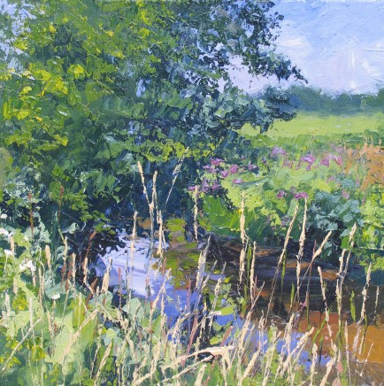 Colin Halliday, Summer River and Meadow, 2014