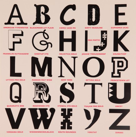Sir Peter Blake, Appropriated Alphabets 3, 2013