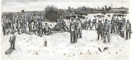 Ed Gray, Sledgers, Primrose Hill (Monochrome), 2011
