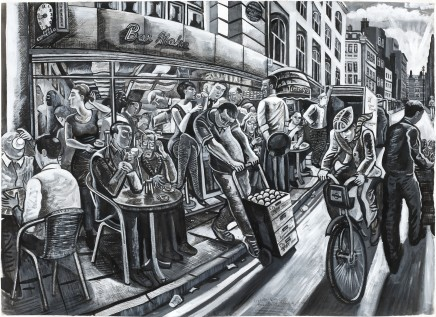 Ed Gray, Bar Italia, Soho (Monochrome), 2011