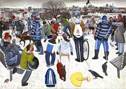 Ed Gray, Sledgers, Primrose Hill, 2009