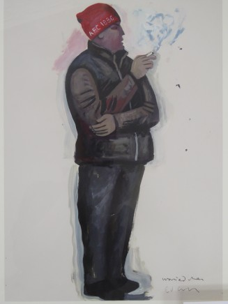 Ed Gray, Worried Fan (Study for Arsenal Adoration at the Emirates), 2014