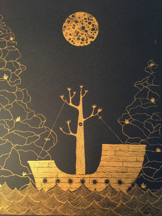 Hannah Battershell, The Ship in the Night - Black, 2018