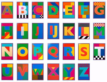 Sir Peter Blake, The Dazzle Alphabet Letter Set, 2017