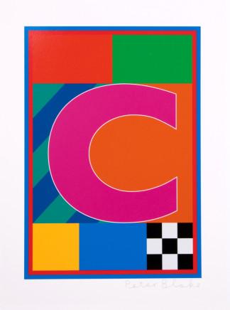 Sir Peter Blake, The Dazzle Alphabet Letter C, 2017