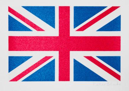 Sir Peter Blake, Small Union Flag - Glitter, 2016