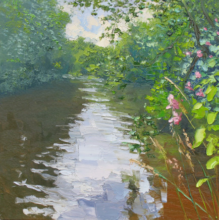 Colin Halliday, River Bank in Bloom , 2016