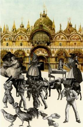 Sir Peter Blake, An Altercation - Venice Suite, 2009