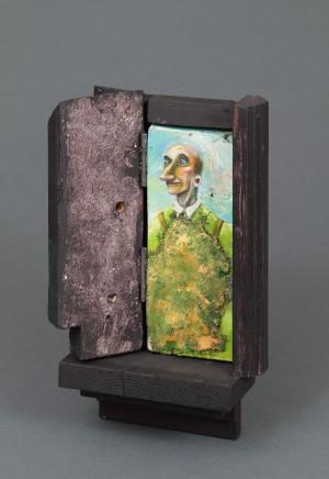 Carlos Cortes, Man In Green Apron, 2014-15