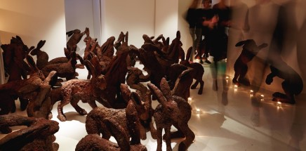 Sophie Ryder, Temple to to the 200 Rabbits, 1999