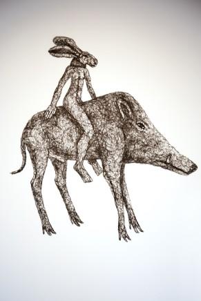 Sophie Ryder, Ladyhare on a Boar