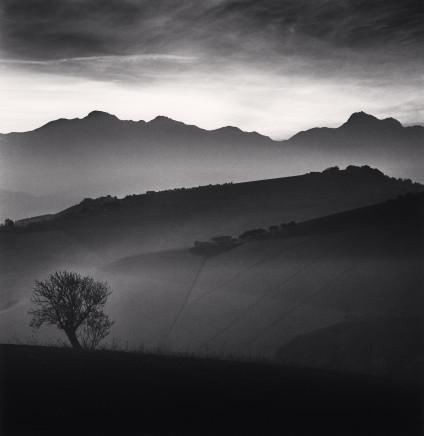 Michael Kenna, Tree and Gran Sasso Mountain, Castilenti, Abruzzo, 2015