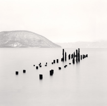 Michael Kenna, Old Pier Posts, Toya Lake, Hokkaido, Japan, 2004