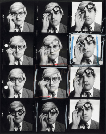 David Bailey, David Hockney, Contact Sheet