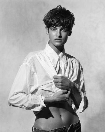 Peter Lindbergh, Linda Evangelista, Italian Vogue, 1988