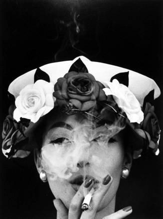 William Klein, Hat + Five Roses, Paris, VOGUE, 1956