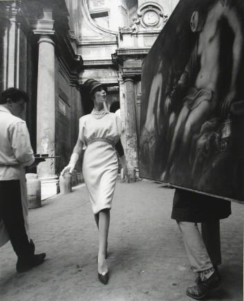 William Klein, Simone + Painting + Coffee, Rome, VOGUE, 1960
