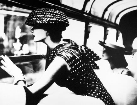 Lillian Bassman, More Fashion Mileage per Dress, Barbara Vaughn, New York, Harper's Bazaar, 1954