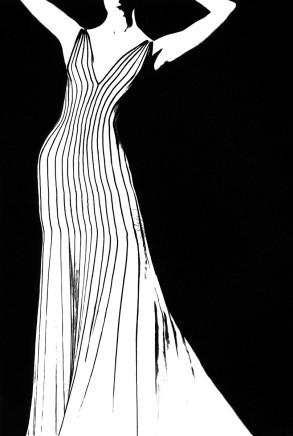 Lillian Bassman, Dress by Thierry Mugler, German VOGUE, 1998