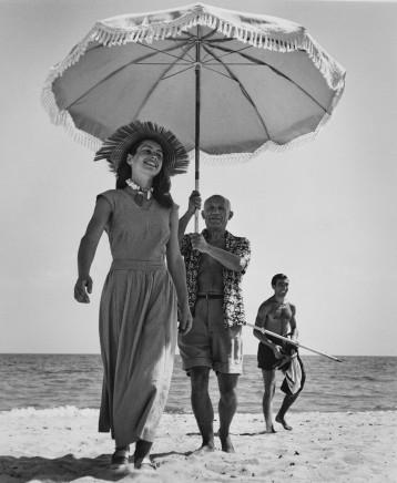 Robert Capa, Pablo Picasso & Francoise Gilot, Golfe-Juan, France, 1948