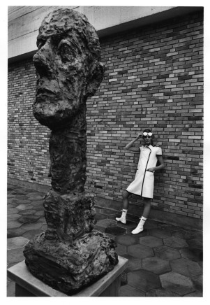 Jeanloup Sieff, Courrèges, Maeght Foundation, Saint-Paul-de-Vence, 1965