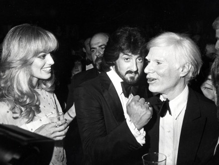 Ron Galella, Susan Anton, Sylvester Stallone and Andy Warhol, Studio 54, 1979