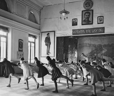 Robert Capa, Class in Tiflis, Most girl students have a secret yearning to be a ballet dancer, 1947