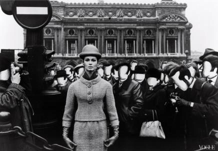 William Klein, Isabella + Opera + Blank Faces, Paris, VOGUE , 1963