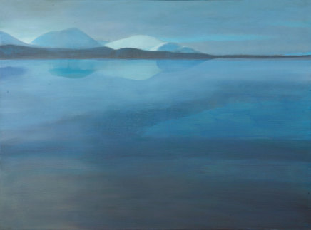 Jane MacNeill, Loch Reflecting Winter Mountains