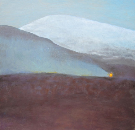 Jane MacNeill, Snow Mountain with Burning Heather