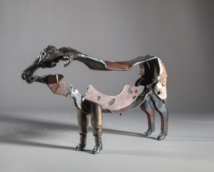 Helen Denerley, miniature bull, 2019