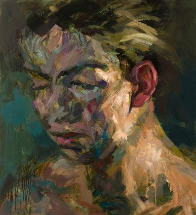 Alan McGowan, Large Head 1 (Hayley against the light), 2019