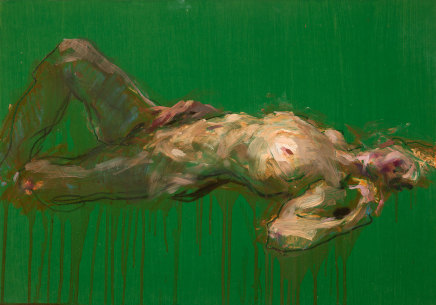 Alan McGowan, Reclining Figure on Green, 2019