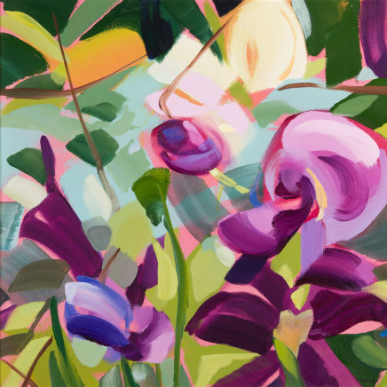 Shona Barr, Clematis and Sweet Peas, 2019