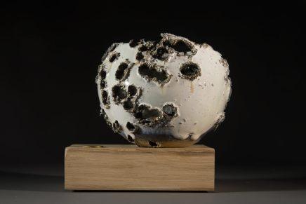 Allison Weightman, Shotgun bowl on oak plinth v, 2018