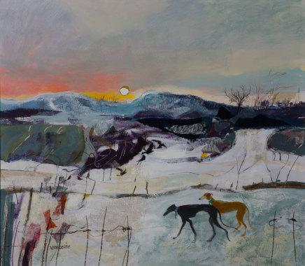 Christine Woodside RSW RGI, December Afternoon, Dunshalt