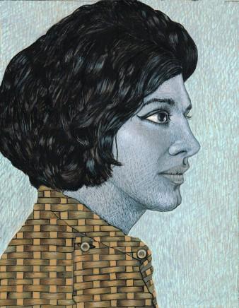 Soheila Sokhanvari, Woman's Profile, 2015