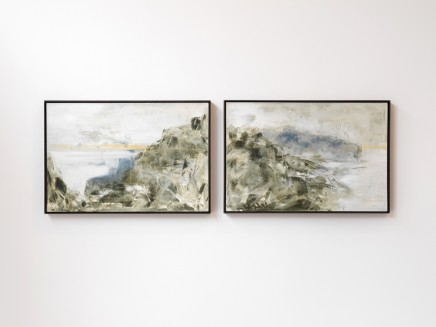 Richard Stone, a sum of parts (the island) (diptych), 2014