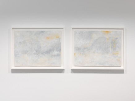 Richard Stone, there were fireworks in the sky (riffing on Polke, Turner too) (diptych), 2014
