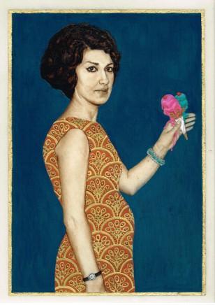 Soheila Sokhanvari, Untitled (Woman Holding an Ice Cream), 2014