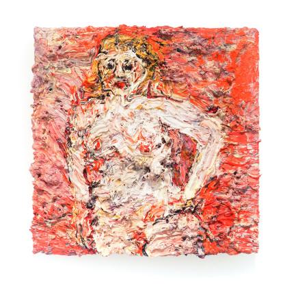 Vanessa Prager, Red Nude, 2018