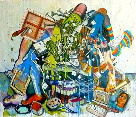 Celina Teague, Still Life of Studio Angst, 2013